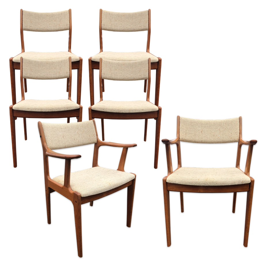 Peachy Danish Modern Scandinavia Woodworks Teak Dining Chairs Set Short Links Chair Design For Home Short Linksinfo